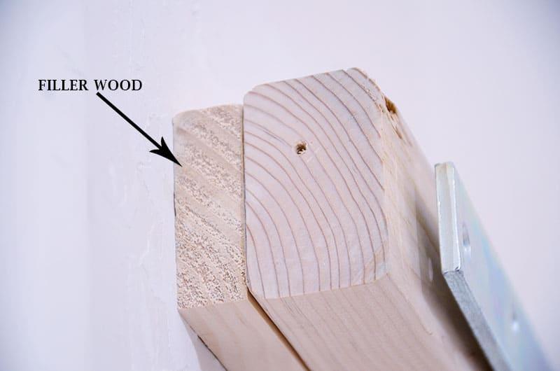 building shelves compensate for too short board
