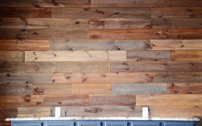 DIY AN EASY WOOD PLANK WALL USING PINE FLOORING We Speak