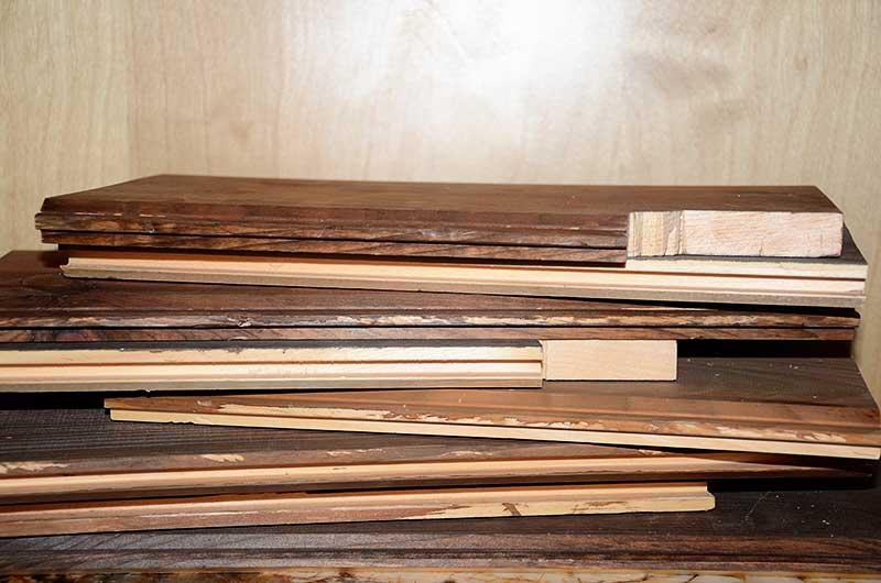 Scrap Wood for Chalkboard Bulletin Board
