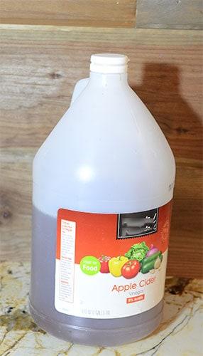 apple cider vinegar for weathering wood