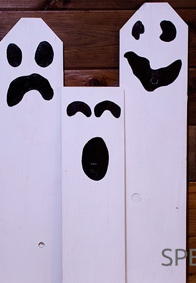 Planks for Boo-tiful Halloween Ghosts Finished