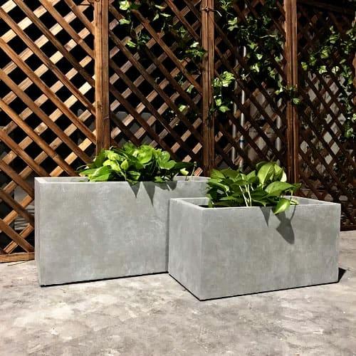 square-concrete-planters