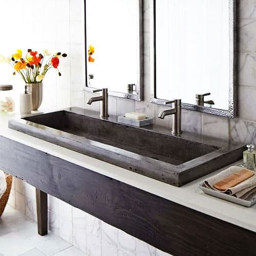 Concrete Trough Bathroom Sink