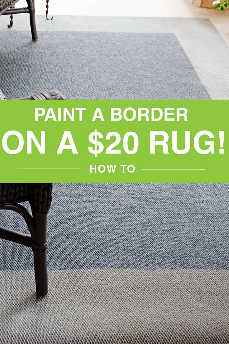 Paint Border on Outdoor rug