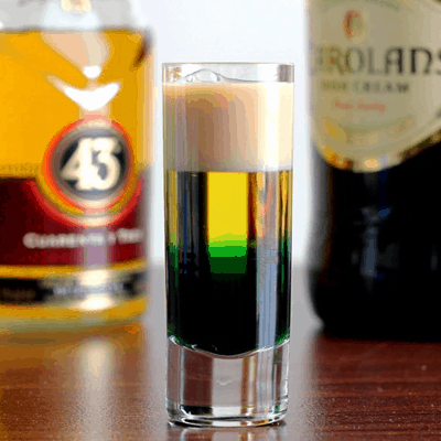 Irish Flag Drink Recipe for St. Patrick's Day