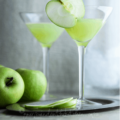 Apple Ginger Martini Recipe for St. Patrick's Day